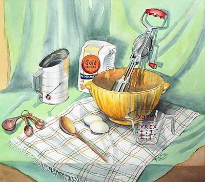Baker Bowl Painting - Baker's Still Life by Madeline  Lovallo