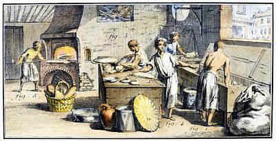 Bakery, 18th Century Art Print