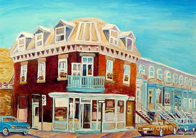 Painting - Montreal Bakery Vintage Montreal Street Scenes Paintings Carole Spandau by Carole Spandau