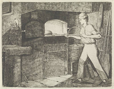 Bakery Drawing - Bakery, Eberhard Cornelis Rahms by Eberhard Cornelis Rahms