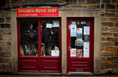 Photograph - Bakewell Music Shop In England by Doc Braham