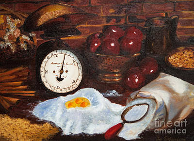 Old Time Painting - Baking From Scratch by Iris Richardson