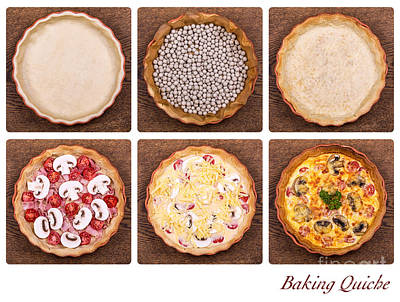 Baking Quiche Art Print by Jane Rix