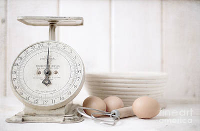 Weigh Photograph - Baking Time Vintage Kitchen Scale by Edward Fielding