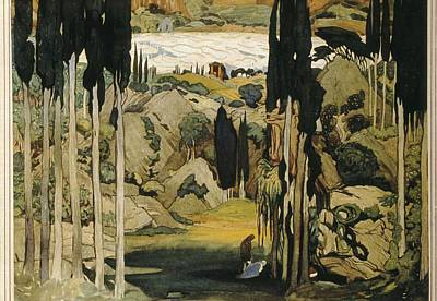 Bakst, L�on 1866-1924. Daphnis Et Art Print by Everett