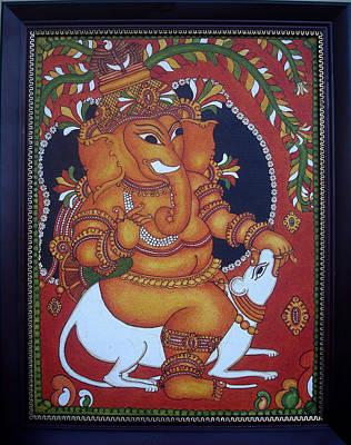Ganapathi Painting - Bala-ganapathi- The Mischievous.  by Anu Edasseri