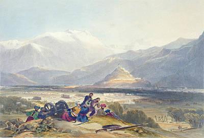 Struggles Drawing - Bala Hissar And City Of Kabul by James Rattray