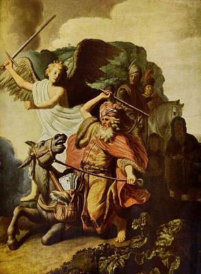 Painting - Balaam And The Ass by Rembrandt Van Rijn