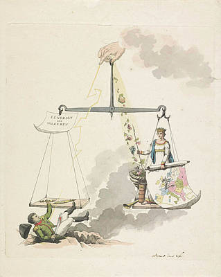 Cornucopia Drawing - Balance Of Europe, 1814, Derk Anthony Van De Wart by Derk Anthony Van De Wart