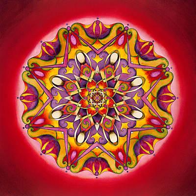 Chakra Painting - Balance - Root Chakra Mandala by Vikki Reed