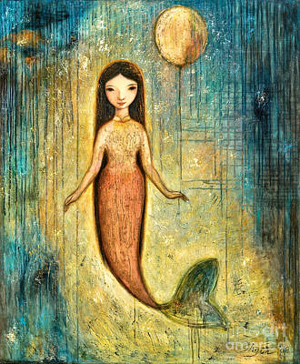 Mermaid Painting - Balance by Shijun Munns