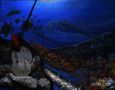 Under The Ocean Mixed Media - Balance The Realm by Teresa Brown