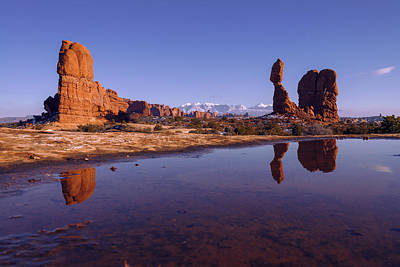 Arches National Park Photograph - Balanced Reflection by Chad Dutson