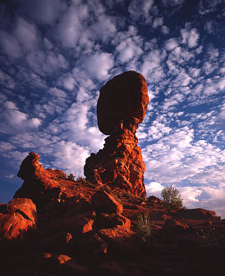 Photograph - Balanced Rock And Clouds by Ray Mathis