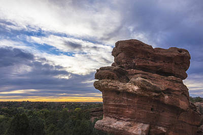 Photograph - Balanced Rock At Sunrise - Garden Of The Gods - Colorado Springs by Brian Harig