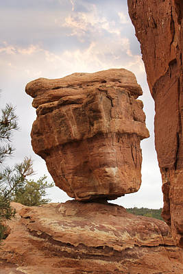 Balanced Rock Art Print by Mike McGlothlen