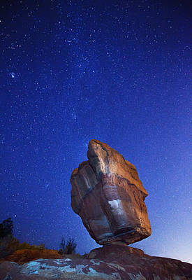 Garden Of The Gods Photograph - Balanced Rock Nights by Darren  White