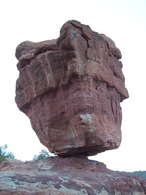 Art Print featuring the photograph Balanced Rock by Sheila Byers