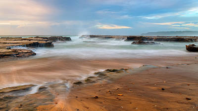 Sunrise Photograph - Balanced Rocks by Tim Brown