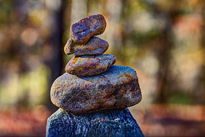 Photograph - Landscape - Rocks - Balancing Act by Barry Jones