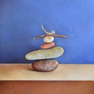 Drawing - Balancing Act by Elena Kolotusha