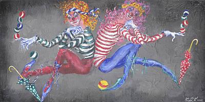 Balancing Act Art Print by Lyla Mitchell