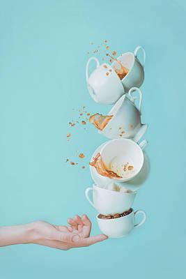 Photograph - Balancing Coffee by Dina Belenko Photography