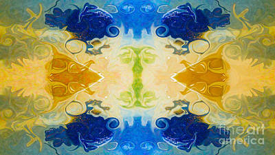 Digital Art - Balancing Energies In Life Abstract Healing Artwork  By Omaste Witkowski  by Omaste Witkowski