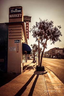 Balboa Market Newport Beach Photo Art Print by Paul Velgos