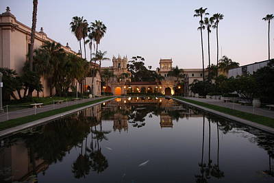 Art Print featuring the photograph Balboa Park Reflection Pool by Nathan Rupert