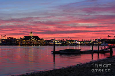 Photograph - Balboa Pavilion At Dusk by Eddie Yerkish