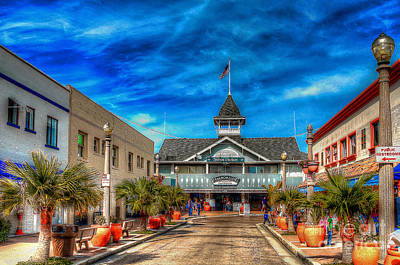 Art Print featuring the photograph Balboa Pavilion by Jim Carrell