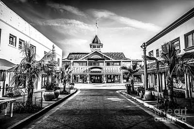 Balboa Pavilion Newport Beach Black And White Picture Art Print by Paul Velgos