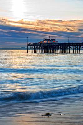 So. Cal Wall Art - Photograph - Balboa Pier Evening Calm Portrait by Chris Brannen