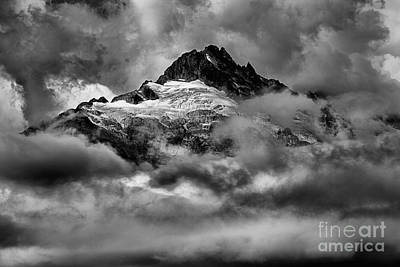 Photograph - Balck And White Tantalus Peaks by Adam Jewell