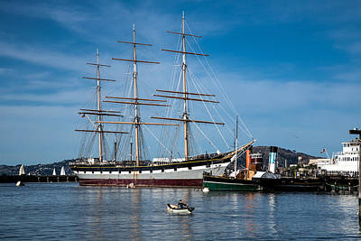 Photograph - Rowing Past Balclutha And Steamship Eppleton Hall by David Smith