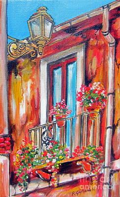 Balcone Fiorito Art Print by Roberto Gagliardi