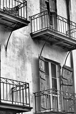Photograph - Balconies And Shutters by Nadalyn Larsen