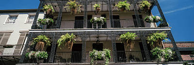 French Quarter Window Photograph - Balconies Of A Building, French by Panoramic Images