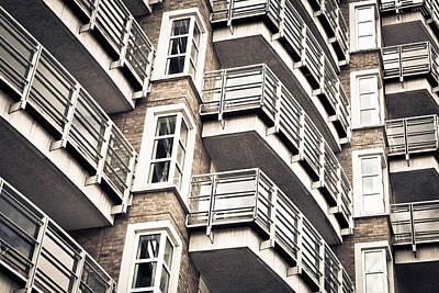 Balconies Art Print by Tom Gowanlock