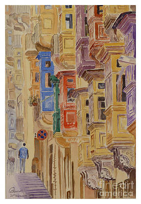 balconies Valletta Art Print