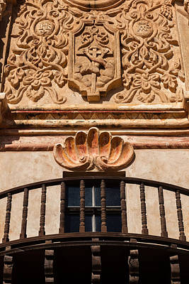 Photograph - Balcony And Artwork At San Xavier Del Bac by Ed Gleichman