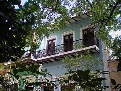Balcony At La Caleta Art Print