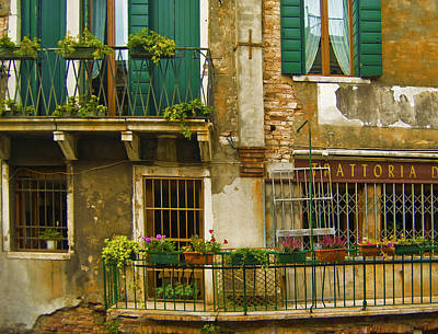 Burano Photograph - Balcony by Francois Girard