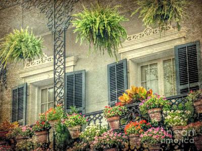 Digital Art - Balcony Garden by Valerie Reeves