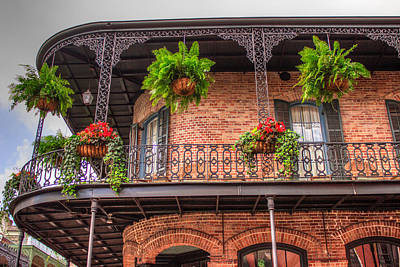 Creole Cottage Wall Art - Photograph - Balcony Gardening by Capt Gerry Hare