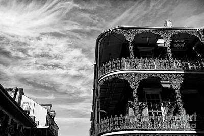 Photograph - Balcony In New Orleans Mono by John Rizzuto
