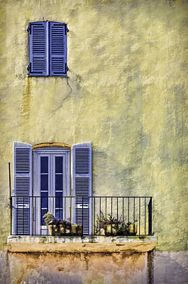 Photograph - Blue Shutters by Maria Coulson