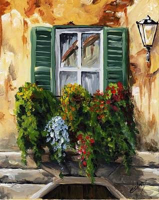 Citysape Painting - Balcony Of Napoly by Edit Voros
