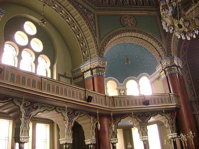 Balcony Of Sofia Synagogue Art Print